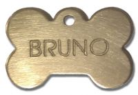 Pet ID Tag (Bone) - Brass