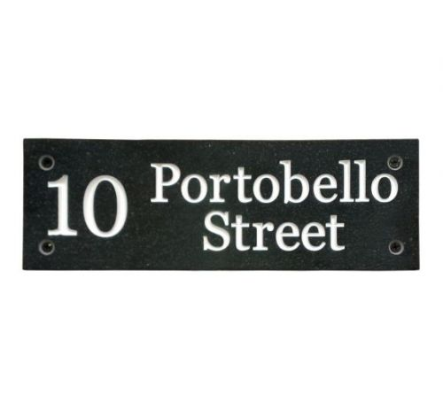 Rectangular Sign - Corian (Dark Stone Effect)