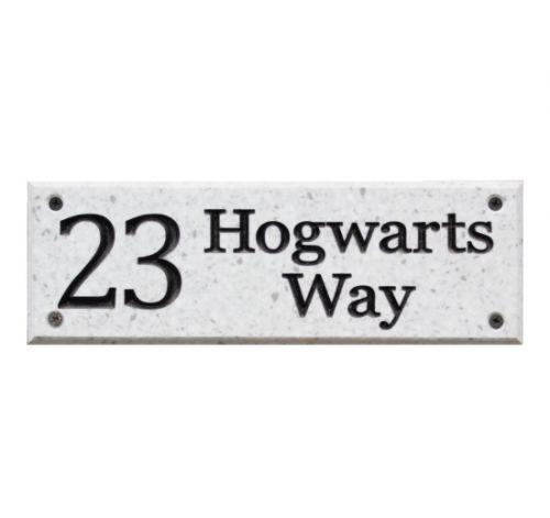 Rectangular Sign - Corian (Light Stone Effect)