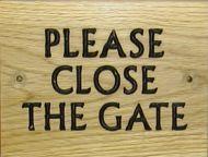 Please Close The Gate