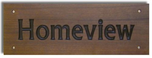 Rectangular Sign - Sapele (Small)