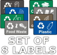 Recycling Stickers - Set of 8