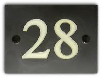Square/Rectangular Number Sign (Slate)