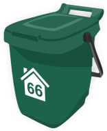 Wheelie Bin Labels - Numbers