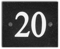Square/Rectangular Number Sign (Corian)