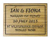 Personalised Plaque